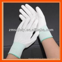 Bon prix blanc Nylon PU Palm enduit gants
