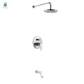 KI-05 high quality adjustable rainfall solid brass concealed shower mixer, single handle with diverter concealed shower mixer