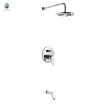 KI-05 mezclador de ducha de latón macizo ajustable de lluvia de alta calidad, manija única con desviador mezclador de ducha oculto