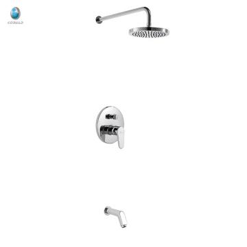 Ки-05 высокое качество регулируемая дождевой твердый латунный скрытая душ смеситель, одной ручкой с переключателем скрытый смеситель для душа