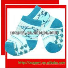 Baumwoll-Schweiß strickte Schweiß Anti-Rutsch-Socken