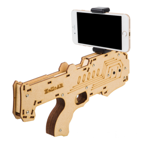 Wooden Toy Gun AR Mini Game Controller