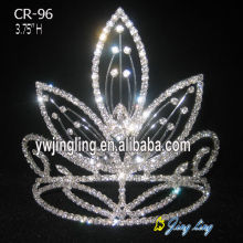 Folhas Rhinestone Light Up Páginaant Crown