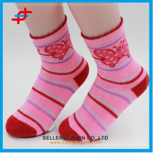 China Hosiery Manufacturer/Happy Children Pretty Terry Polyester Socks