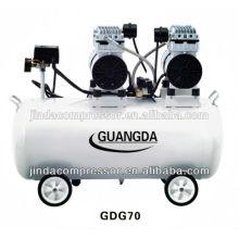 equipamentos odontológicos CE SGS 80L 680W * 3 silencioso Compressor de ar livre de óleo