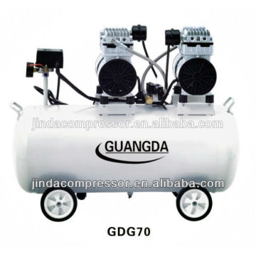 dental equipment CE SGS 80L 680W*3 Noiseless Oil Free Air Compressor