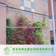 Malha de cabo de aço inoxidável de parede verde flexível
