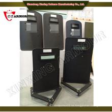 Seguridad y protección Escudo anti-disturbios portátil con ruedas