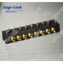 Латунный пружинный штырьковый разъем Pogo (разъем аккумулятора, 8 контактов)