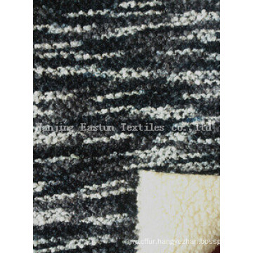 Bonded Lambs Wool Knitting Fabric Suede Bonded Fur Es20131213-9