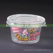 Taza plástica disponible redonda del helado de los PP 4oz del claro de la categoría alimenticia del precio de fábrica