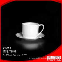 stock hotel and restaurant chinese white porcelain ceramic cappuccino cups and saucers