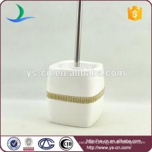 YSb50107-02-tbh dolomite toilet brush holder with golden diamond