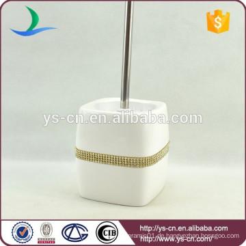 YSb50107-02-tbh dolomite Toilettenbürstenhalter mit goldenem Diamanten