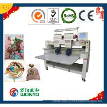 Preço principal da máquina do bordado de Wonyo 2 para o bordado liso do vestuário do t-shirt do tampão