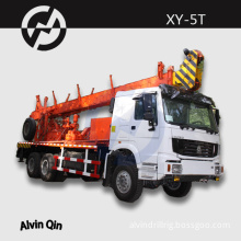 1200m soil investigation XY-5T NQ BQ HQ truck mounted water well drilling rig