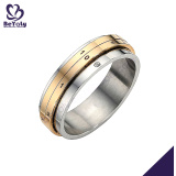 High quality gold band men's titanium artisan jewellery