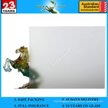 3-12mm Clear Frosted Glass with AS/NZS2208: 1996