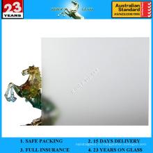 3-12 мм прозрачное матовое стекло с AS / NZS2208: 1996