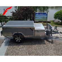Nouveau trailer de camping-car hors sol dur avec tente avec système de cuisine