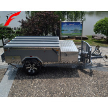 New off-road hard floor camper trailer with tent with kitchen system
