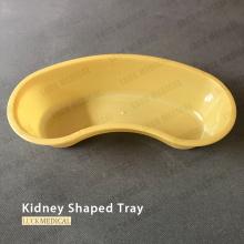 Nierenförmige Kunststoffschale zum einmaligen Gebrauch