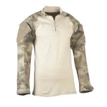 Nylon / Cotton 1/4 Zip Camouflage Military Tactical Response Combat Shirt Uniform