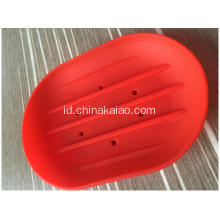Red Green Pink Rack Grosir Soap Dishes Silicone Drainer