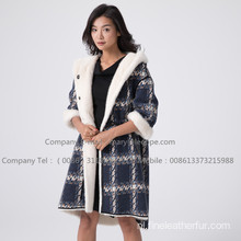 Kopenhagen Winter Velvet Mink Coat voor dames
