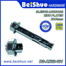 Hex Head Dynabolt Sleeve Anchor Carbon Steel with Zinc Plating