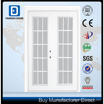 Steel Garden Door-15 Lite Internal Grill-5 Ft. x 82.375 In. Pre-Finished White Lowe Argon-Left Hand Steel Garden Door-15 Lite Internal Grill-5 Ft. x 82.375 In. Pre-Finished White Lowe Argon-Left Hand