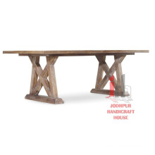 Cross wooden Dining Table
