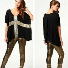 Camiseta de algodón suelta casual de estilo nuevo (MU2379-1)