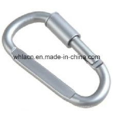 Stainless Steel Pear Shaped Carabiner Spring Snap Hook with Screw Lock (Precision Casting)