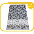 Tissus africains argentés de tissu de coton imprimé par Bazin Riche vérifient le modèle