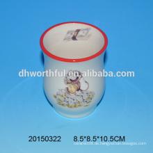 Großhandel billig Keramik Blume Vase mit Affe Muster
