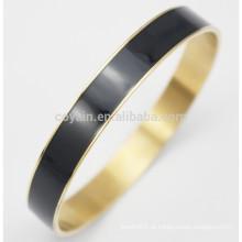 China Fábrica barato personalizado Metal esmalte pulseira jóias