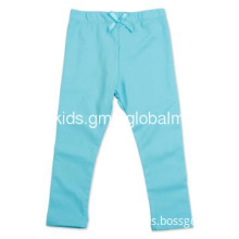 G3769# kids clothes blue girl summer autumn plain color legging