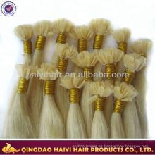Extensiones de cabello brasileñas consolidadas U del pelo humano de Remy del grado superior estupendo de la calidad U inclinan el pelo humano