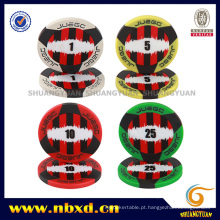 11.5g 2-Tone 3-Stripe Jogo ABS Poker Chip