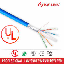 CU Braiding Shielded 23AWG CAT6E Indoor Cable, Braiding Network Cable