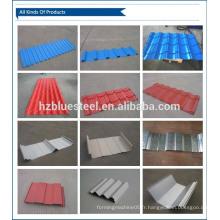 Prix à bas prix Matériau de construction Feuille de toit métallique Plaque de toit en acier galvanisé