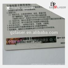 Hologram black ink scratch off stickers for card