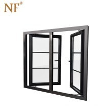 elegant aluminium wood  window grills design,aluminum bay window