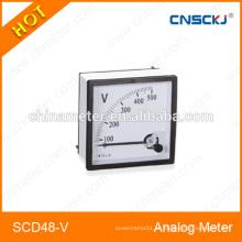 Medidor de painel voltímetro analógico SCD48-V 48 * 48mm com melhor preço