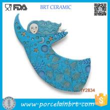 Wholesale Ceramic Blue Girl Art Designer Home Decor