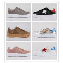 Mulheres Sapatos PU / Couro Sapatos Casuais Snc-65001-Slv