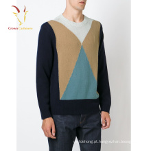 2016 Moda Pulôver Intarsia Mens Moda Camisola