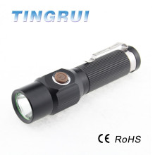 High power Led Zoom led flashlight