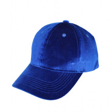 Velvet Cap Blue Men & Women Headwear décontracté